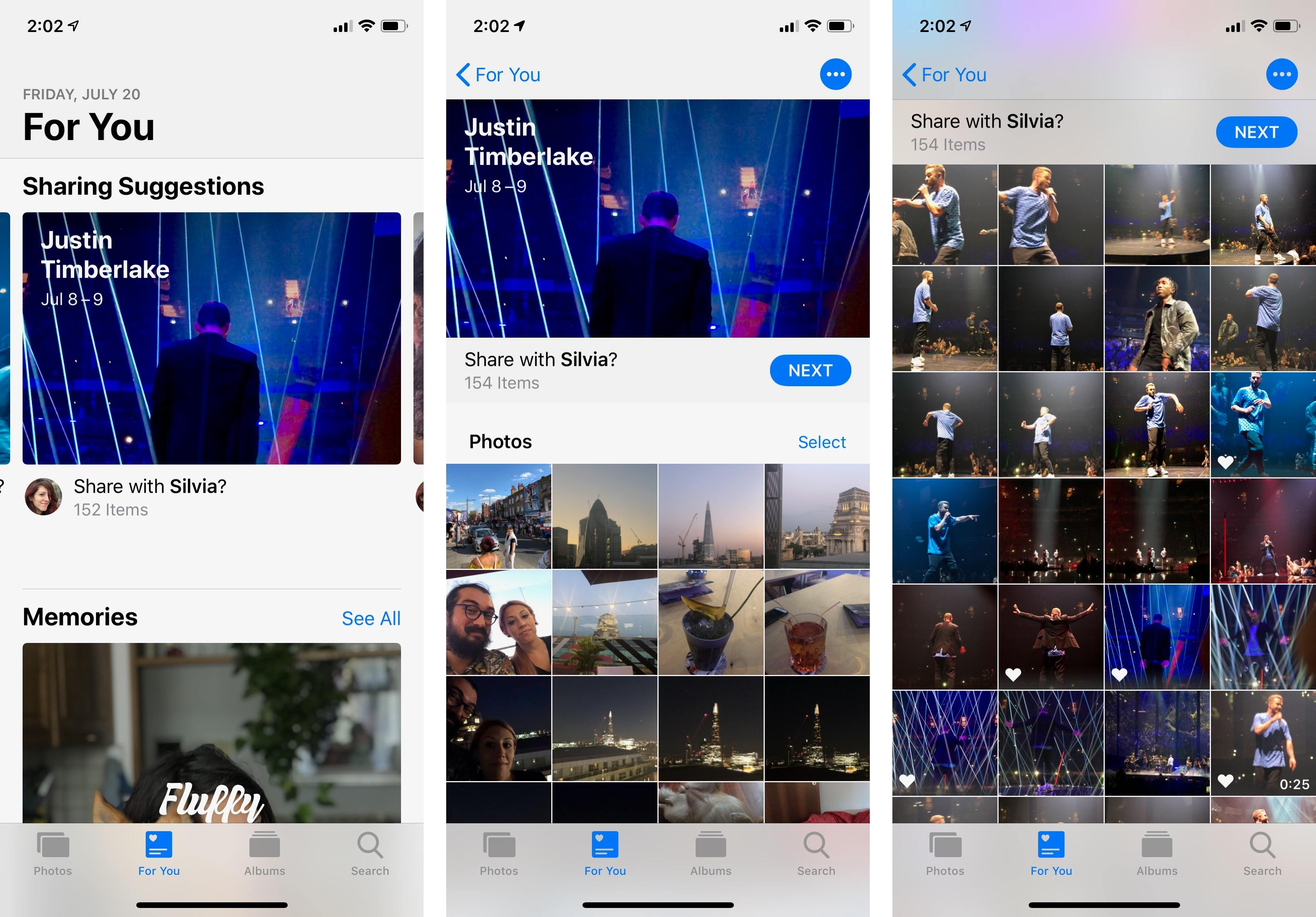 Photos for iOS 12 has an index of public events such as concerts, which become sharing suggestions if you took pictures at the event. This kind of built-in intelligence is remarkable.
